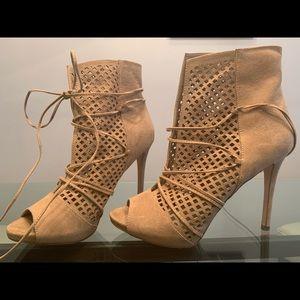 Guess peep toe booties/ heels